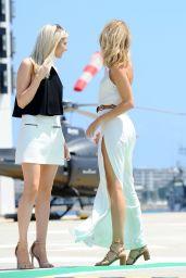 Kimberley Garner in White Dress Arrives in Cannes 5/18/2016