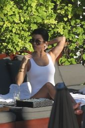 Kourtney Kardashian in Swimsuit - Enjoys The Setai Hotel