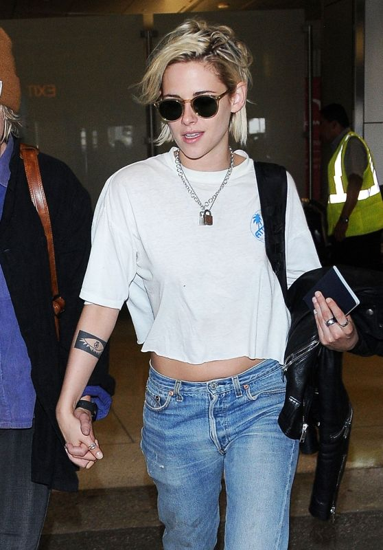 Kristen Stewart Travel Outfit - Arriving at LAX Airport in Los Angeles 5/19/ 2016
