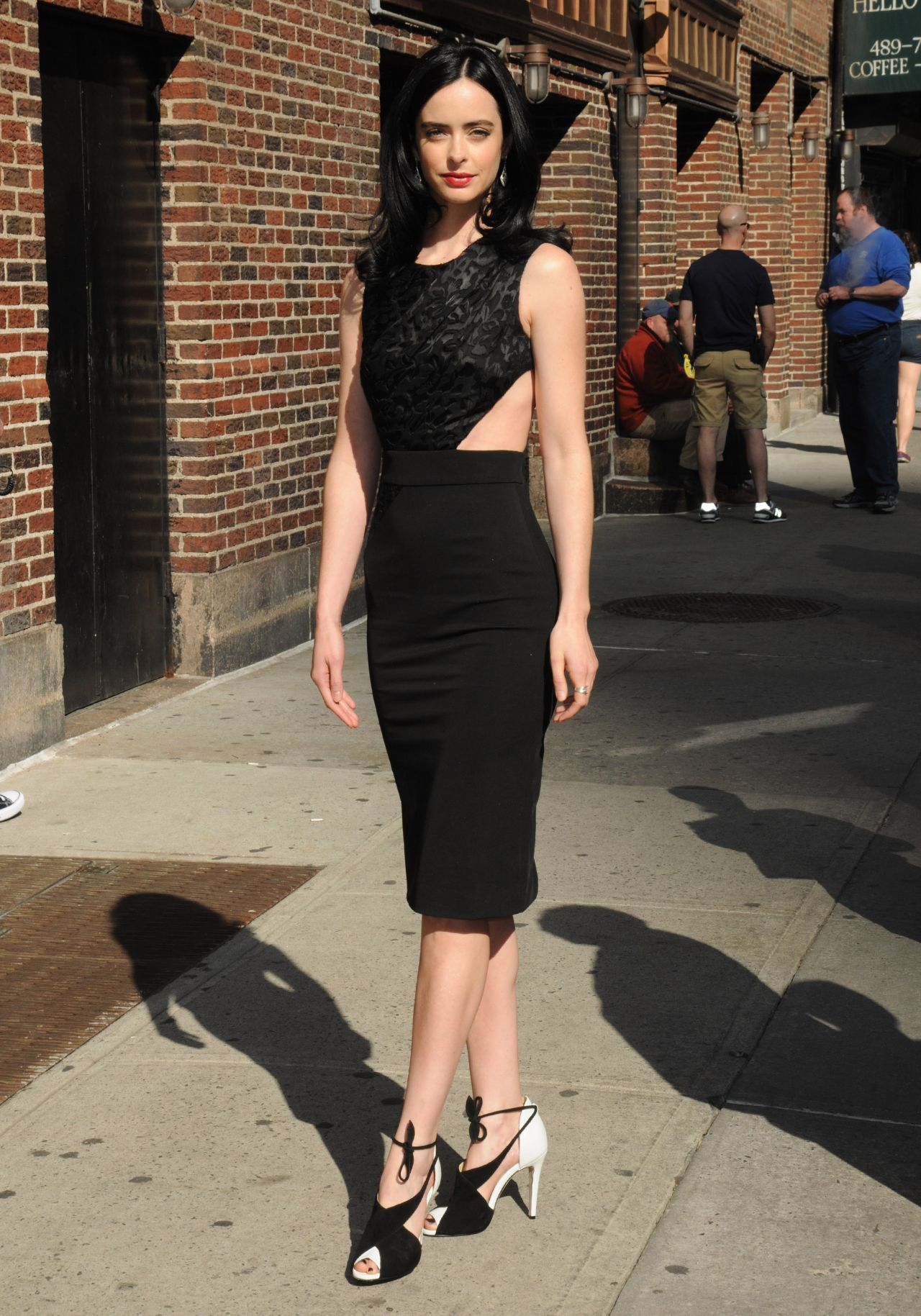 Krysten Ritter Late Show With Stephen Colbert At Ed