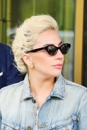 Lady Gaga in Jeans - Leaving Her Apartment Building in New York City 5/3/2016
