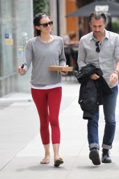 Lauren Cohan in Red Leggings - Out in Beverly Hills, 5/16/2016