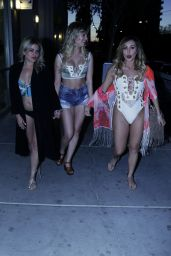 Lauryn Goodman, Lady Nadia Essex & Megan Rees - Leaving Globe Salon in Downtown Las Vegas, May 2016