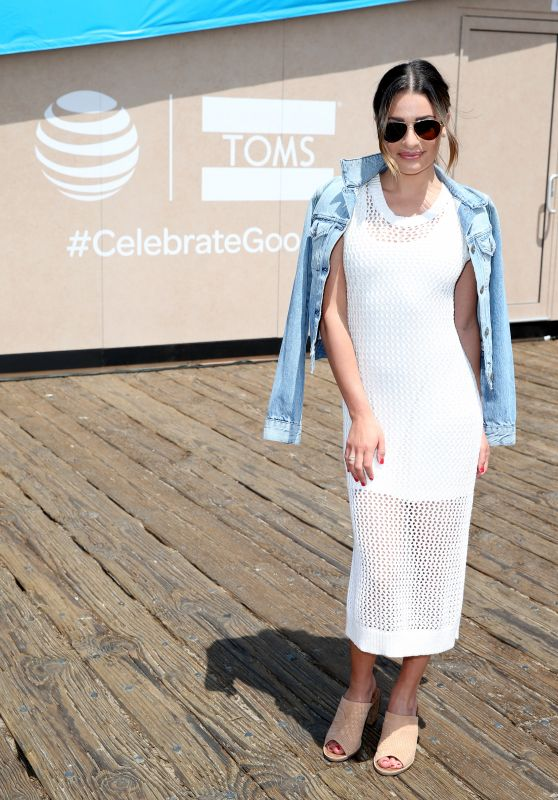 Lea Michele - AT&T and TOMS 10 Year Celebration Shoebox at Santa Monica Pier 5/6/2016
