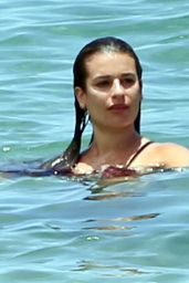 Lea Michele in a Swimsuit at a Beach in Maui 5/29/2016