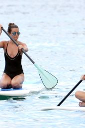 Lea Michele in a Swimsuit - Paddleboarding In Maui 5/30/2016