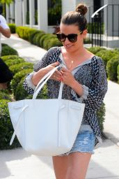 Lea Michele - Shows Off Her Legs as She Heads to Lunch at Gracias Madre in West Hollywood 5/3/2016