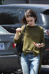Lily Collins Street Style - Out in Los Angeles 4/29/2016