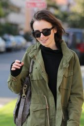 Lily Collins Urban Outfit - Visits a Friend in Los Angeles, CA 5/10/2016