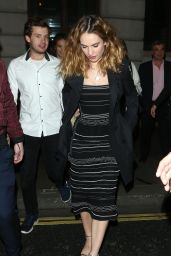 Lily James Style - Leaving the Garrick Theatre in London 5/25/2016