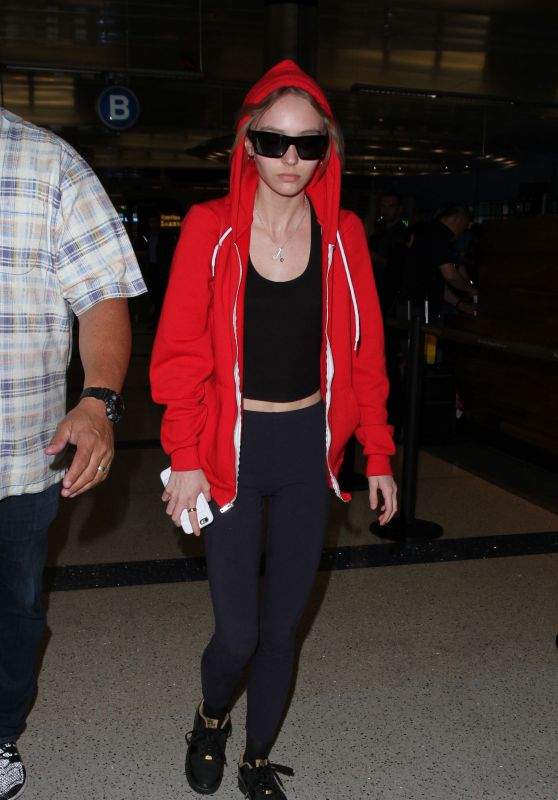 Lily Rose Depp - Arriving at Los Angeles International Airport  5/26/2016