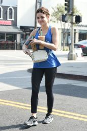 Lucy Hale in Tights - Out in Los Angeles 5/13/2016