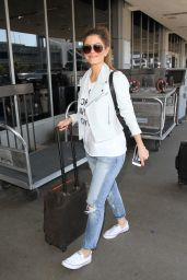 Maria Menounos Travel Outfit - LAX Airport in Los Angeles 5/25/2016