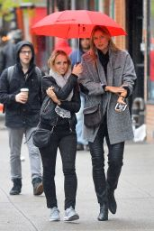 Maria Sharapova and a Friend - Out On a Rainy Day in New York City  5/1/2016