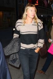 Maria Sharapova Casual Style - Night at Broadway to See the Musical