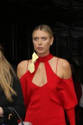 Maria Sharapova -Leaving the Bowery Hotel  to The Met Gala in New York 5/2/2016