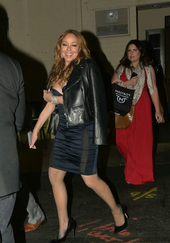 Mariah Carey Night Out Style - Goes to Mastros Steakhouse in Los Angeles 5/29/2016