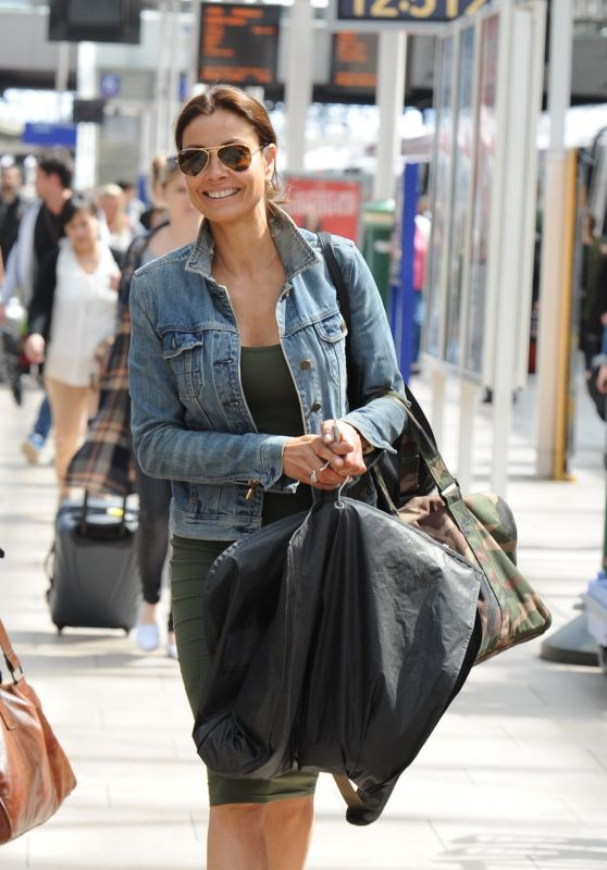 Melanie Sykes - Arriving at Manchester Piccadilly Train Station and Shopping in Accessorize in Manchester, May 2016