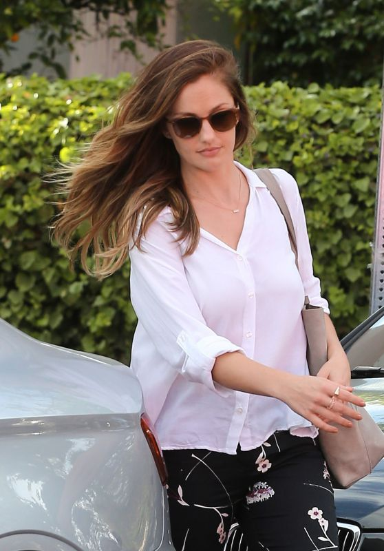 Minka Kelly at Marie Nails Salon in West Hollywood, 5/6/2016
