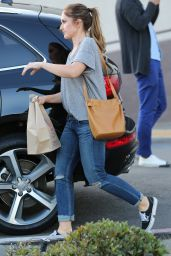 Minka Kelly Street Style - Shopping in West Hollywood, April 2016