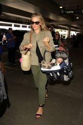 Molly Sims Travel Outfit - at LAX Airport in LA 5/24/2016