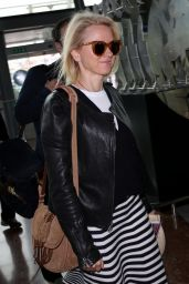 Naomi Watts Travel Outfit - at Nice Airport in France 5/13/2016