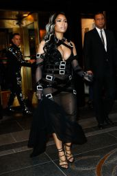 Nicki Minaj - Leave the The Carlyle Hotel En Route to The Met Gala in New York 5/2/2016