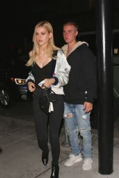 Nicola Peltz and Justin Bieber - Getting Dinner at Mastro