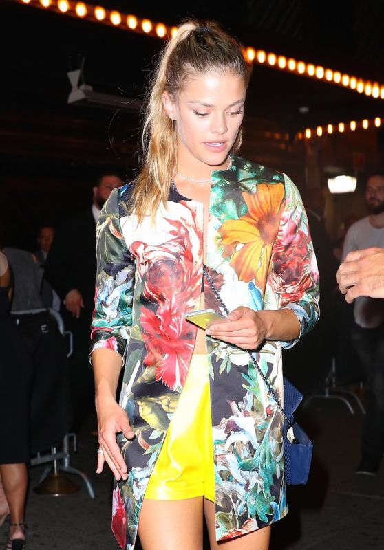 Nina Agdal Night Out Style - Leaves Up & Down Nightclub in New York 5/24/2016