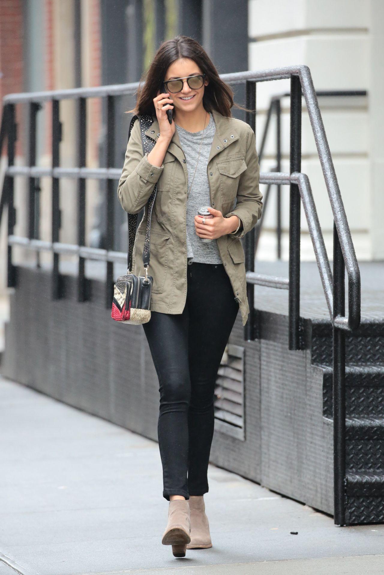 Nina Dobrev in Tight Jeans - Out in NYC 5/3/2016 • CelebMafia