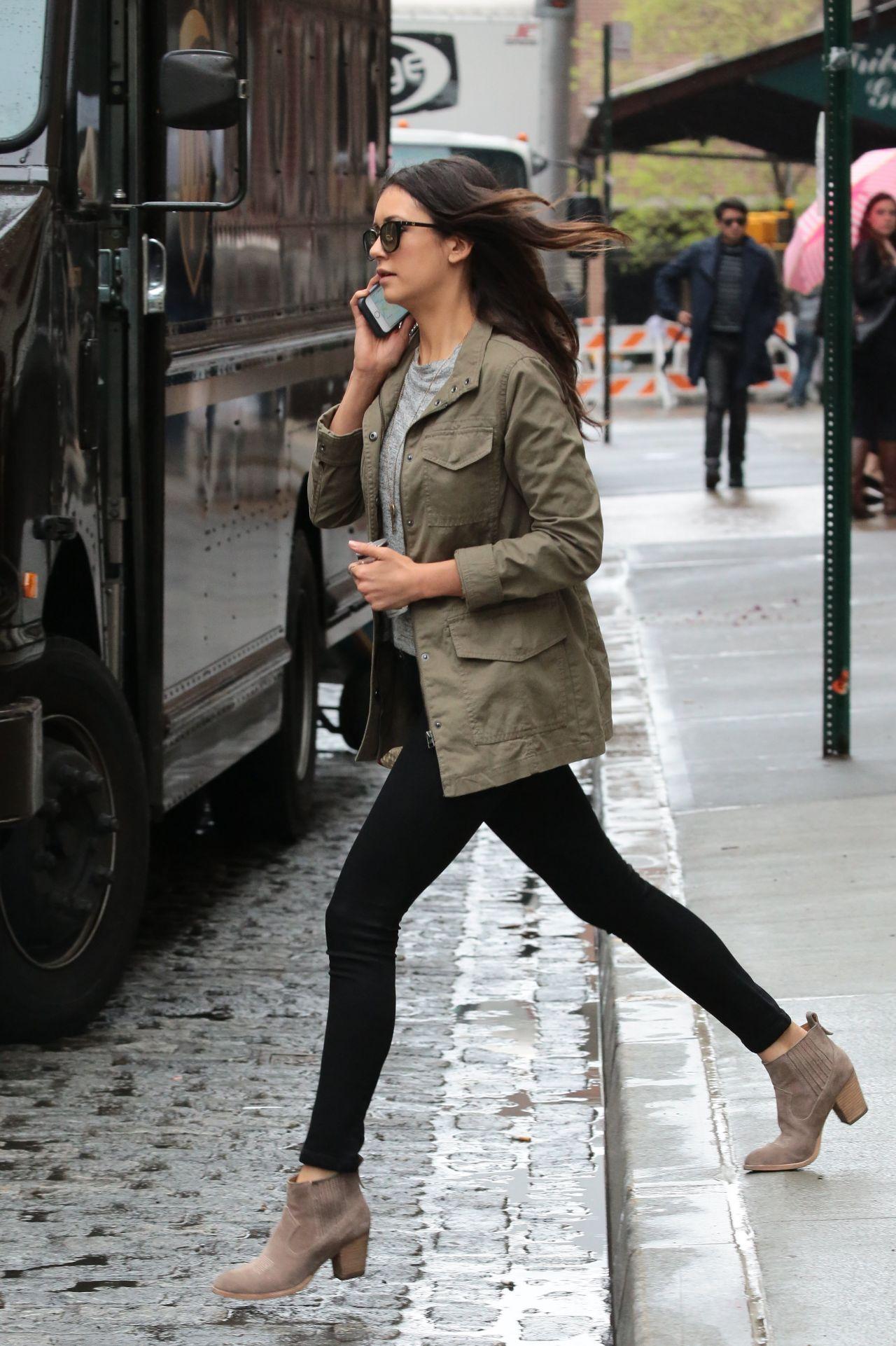 nina dobrev in tight jeans out in nyc 532016