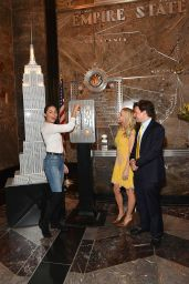 Olivia Culpo - The Lighting Ceremony of The Empire State Building in Yellow, NYC 5/3/2016