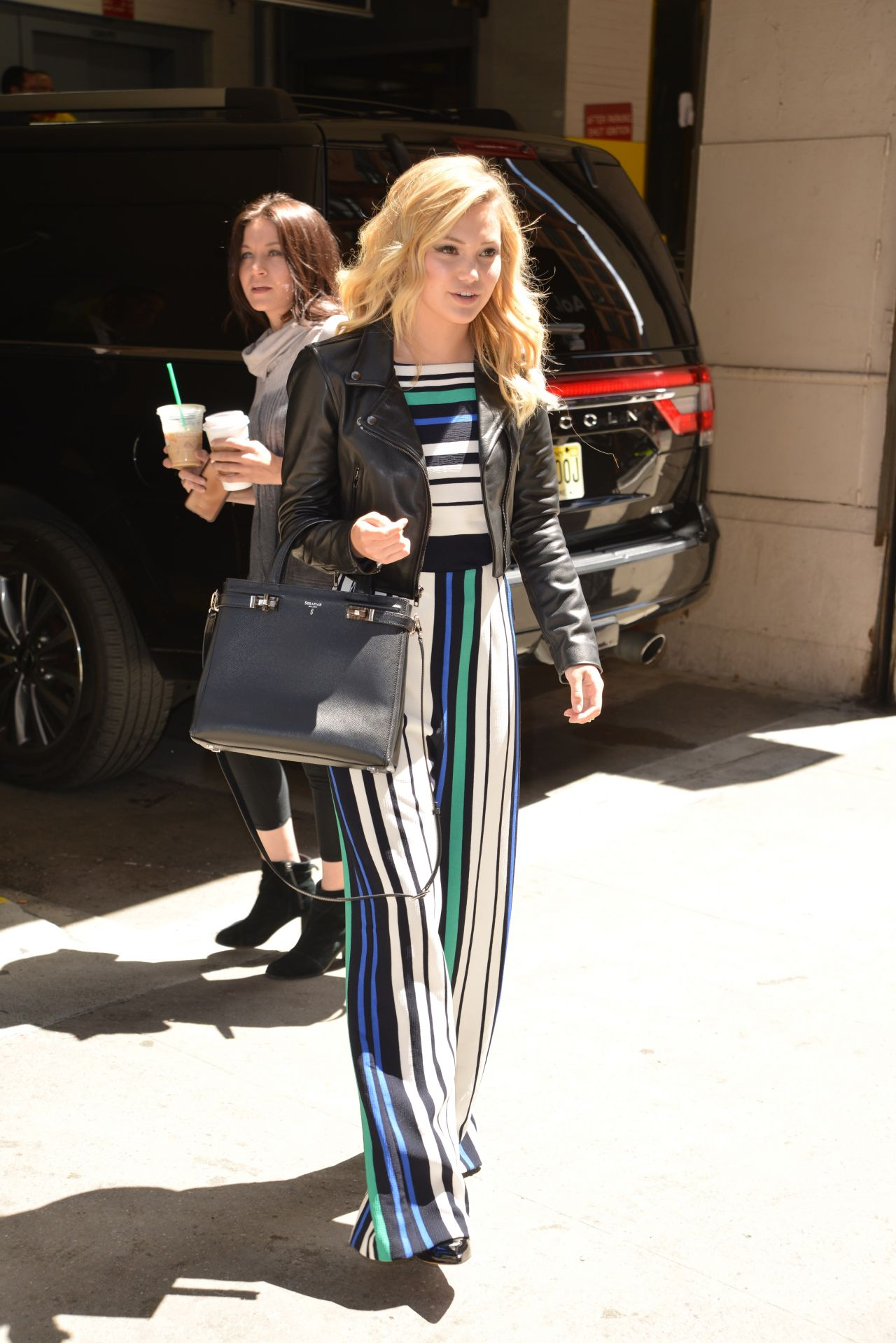 Olivia Holt Casual Chic Outfit At A Talk Show In Nyc 5