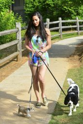 Olivia Munn - Walking Her Dog in Atlanta 5/18/2016