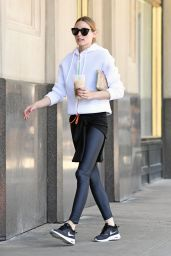 Olivia Palermo in Tights - Out in NYC 5/28/2016