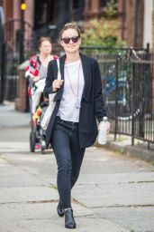 Olivia Wilde Office Chic Outfit - Out in New York City 5/10/2016