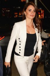 Penelope Cruz Office Chic Outfit - Arrives to a Q&A in Manhattan 5/23/2016