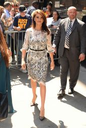 Penelope Cruz Style Inspiration - Leaving ABC Studios i n New York City 5/23/2016
