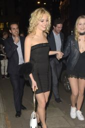 Pixie Lott Night Out Style - Leaving Sexy Fish Restaurant in Mayfair With Friends, London 5/4/2016