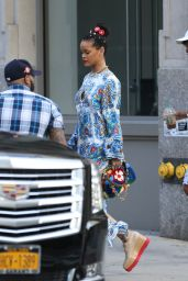 Rihanna - Arrives to MAC With Her Friend Melissa Ford in New York 5/29/2016