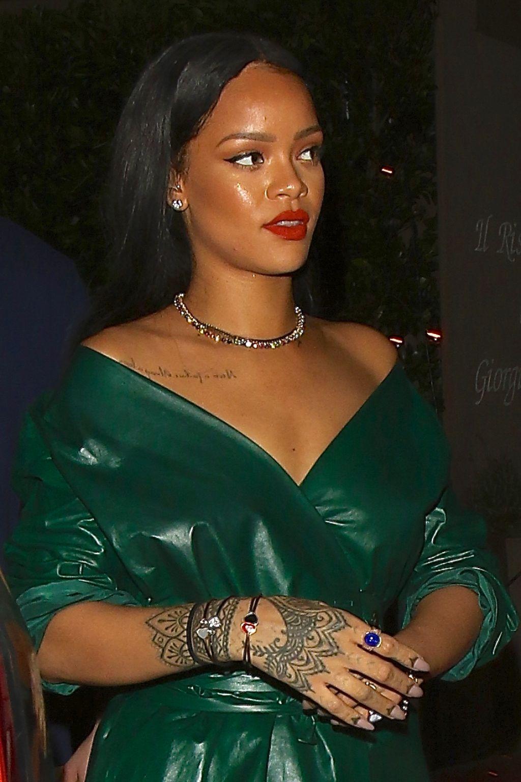 Rihanna Night Out Style Leaving Dinner At Giorgio Baldi