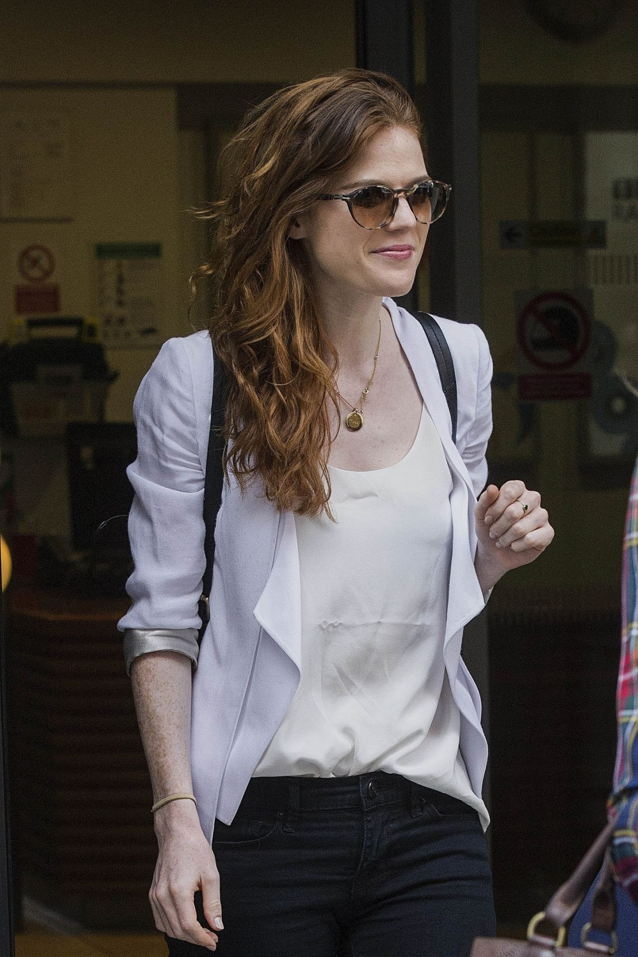Rose Leslie Leaving The Bbc Broadcasting House In London