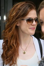 Rose Leslie - Leaving the BBC Broadcasting House in London 5/13/2016