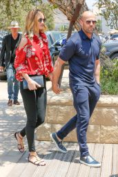 Rosie Huntington-Whiteley and Jason Statham - Arriving at Their House in Soho 5/29/2016