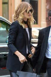 Rosie Huntington-Whiteley Casual Chic Outfit - Out in NYC 4/30/2016