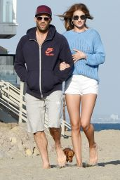 Rosie Huntington-Whiteley on the Beach in Malibu 5/29/2016