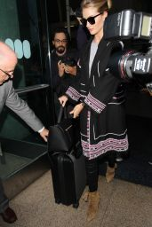 Rosie Huntington-Whiteley Travel Outfit - Arrives in Style at LAX in LA 5/3/2016