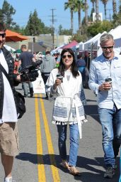 Selma Blair Casual Style - at a Farmer
