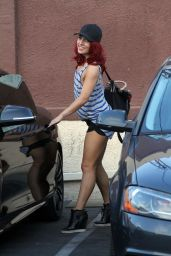 Sharna Burgess Leggy in Shorts - After Tuesday Practice at DWTS Rehearsal Studio in Hollywood 5/3/2016