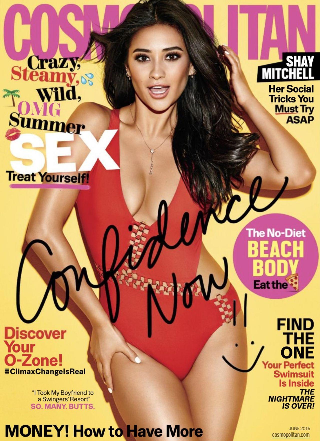 Shay Mitchell Cosmopolitan Magazine June 2016 Issue